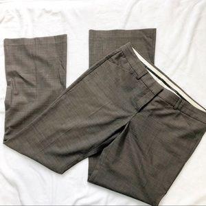 Theory olive gray slacks pants bootcut size 12